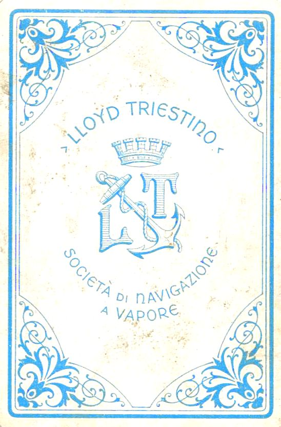 Lloyd-Triestino playing card