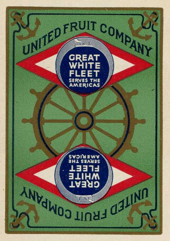 United Fruit Co. shipping playing card